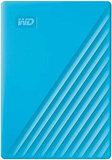 Western Digital WD My Passport externe Festplatte 4 TB (mobiler Speicher, schlankes Design, WD Discovery Software, automatische Backups, Passwortschutz) Blau   auch kompatibel mit PC, Xbox und PS4