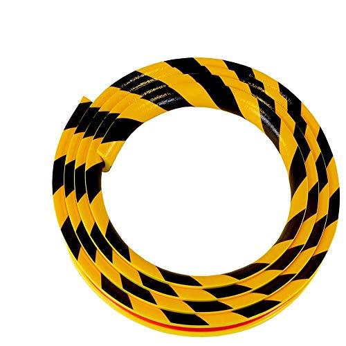 KNUFFI Rohrschutzprofil Typ R30, selbstklebend, gelb/schwarz, 5 m aus Kunststoff