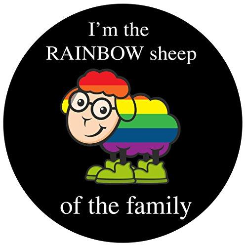 Gay Pride Ich Bin das Regenbogen Schaf der Familie (Packung mit 5)
