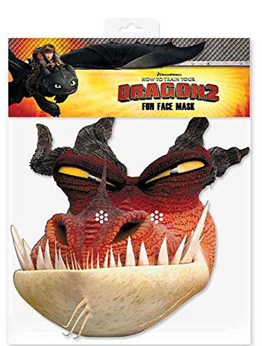 empireposter Monstrous Nightmare – How to Train Your Dragon Masque Masque en Carton Brillant Haute qualité en Carton avec Trous pour Les Yeux et élastique 30 x 20 CM