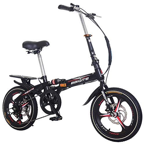 DULPLAY Mini Bicicletta,Bicicletta Pieghevole,Bici da Strada Adulto Uomo Donna Studente Bicicletta,Città Bike Leggero B 20inch