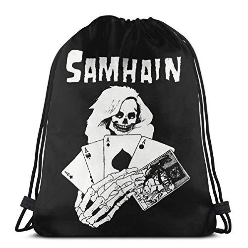 Mochila con cordón Samhain III noviembre Coming Fire Rock Band, ligera, bolsa de deporte para ir a la escuela