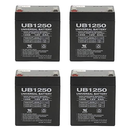 Universal Power Group 12V 5AH APC Smart-UPS 2200VA USB Ser, SUA2200RM2U UPS Battery - 4 Pack