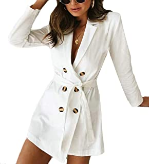 Womens Casual Double-Breasted Sexy Casual Slim Trench Coat