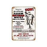 Lplpol Plaque en aluminium 1966 Batman In Person At Shea Stadium Vintage Plaque en métal Panneau de décoration Panneau publicitaire 30,5 x 45,7 cm