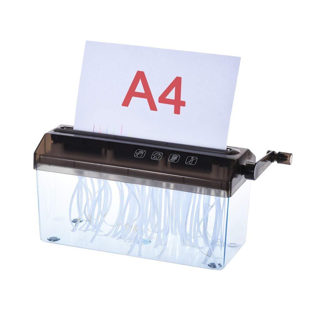 Mini Desktop Manual Paper Shredder Hand Papers Cutting Office Portable Shredder