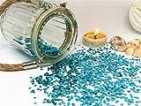 versandhop Konfetti-Herz Hell-Blau Himmelblau 0,3cm 3mm klein Nageldesign Handwerk Basteln Tisch-Dekorieren Streu Valentinstag Geburtstag Baby-Party Pinkel-Party 15g