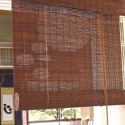 GDF blind uit bamboe filtering La Licht des Sole Romano rol van hout gordijn met vochttransport zonnescherm anti-muffa decoratieve gordijnen binnen (breedte: 130 cm)