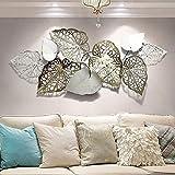 QW Kreative Handgemachte Blätter Wanddeko Metall, Moderner Luxus Wandkunst, Benutzt Für Arbeitszimmer/Wohnzimmer/Schlafzimmer/Hotel