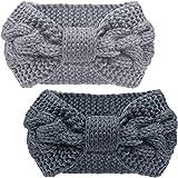 Pacrate Stirnband Damen Winter Warmes Knoten Gestrickte Stirnbänder Elastisches...