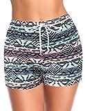 SHEKINI Donna Pantaloncini da Spiaggia Stampati Elastico Sportivi Casuali Pantaloncini da Bagno Estate Nuoto Tronchi Spiaggia con Tasche Asciugatura Veloce Bikini Shorts (S, Texturmuster)