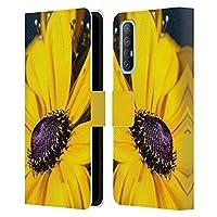Head Case Designs オフィシャル ライセンス商品 PLdesign デイジー フラワー&リーフ Oppo Find X2 Neo 5G 専用レザーブックウォレット カバーケース