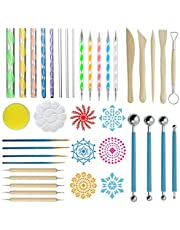 ZWOOS Mandala Dotting Tools Kit, 40 Stks Mandala Dotting Tools, Pen Dotting Tools Mandala Stencil Kit voor Rock Painting Kleurplaten Tekenen en Tekenen Kunstbenodigdheden