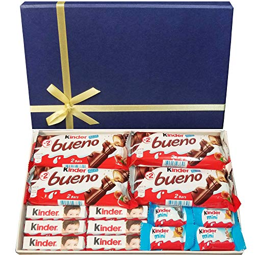 Surtido de chocolate con leche Kinder con minicaja de regalo personalizable
