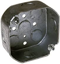 Hubbell-Raco 8125 1-1/2-Inch Deep, 1/2-Inch Side Knockouts Octagon Box