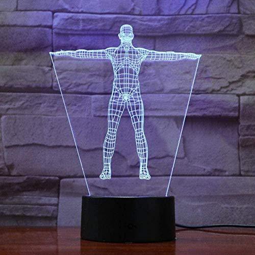 3D Nachtlicht Schaufensterpuppe Licht perfekte Farbwechsel Geburtstagsgeschenk Frau Erwachsenen USB-Kabelsteuerung