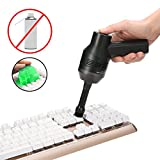 Keyboard Cleaner with Cleaning Gel, MECO Rechargeable Mini Vacuum Cordless Vacuum Desk Vacuum...