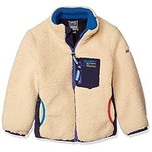 [ラゲッドワークス] ボーイズファスナー付きポケットボアフリースジャケット アウトドアシリーズ。 ベージュ 日本 110 (日本サイズ110 相当)