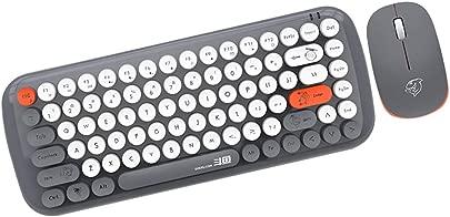 Shiwaki Wireless Runde Tasten Tastatur mit Funkmaus Drahtlose Tastatur mit 84 Tasten Keyboard QWERTY Layout f r Laptop PC Schätzpreis : 33,99 €