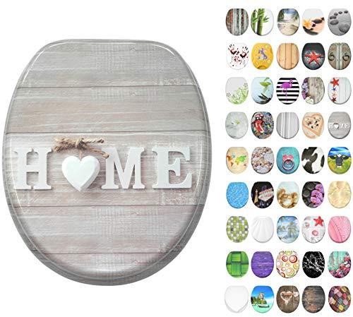 WC Sitz mit Absenkautomatik, große Auswahl, schöne Motive, hochwertige und stabile Qualität aus Holz (Home)