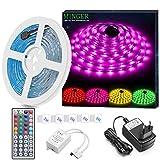 Striscia LED RGB 5M, Minger LED Striscia Impermeabile 5050 Cambiamento di colore Kit compl...