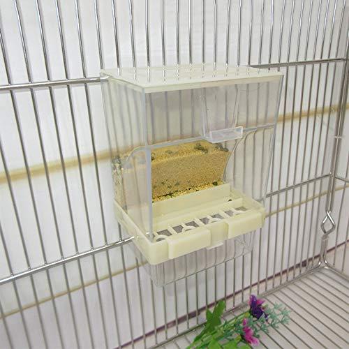 GFEU Automatische Papageien-Zufuhr Keine Verwirrung Acrylvogelkäfig-Zufuhren für Wellensittich-Papageien