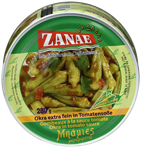 Zanae Okra, extra fein, in Öl (1 x 280 g Packung)