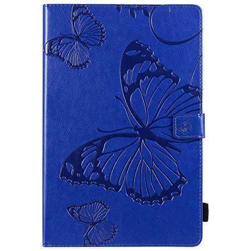weichunya Flor de Mariposa Floral Patrón de PU de Cuero de la Cartera de la Tableta de la Tableta para la Cubierta de la Galaxia S6 Lite SM- P610 P615 10,4 Pulgadas 2020 (Color : Blue)