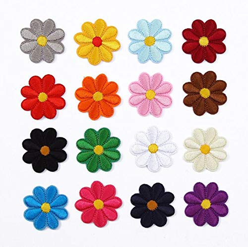 Iron on Patch, FANDE 32PCS Embroidered Flowers Patches Applique Kit DIY Appliques Patches Badge for Clothing, Backpack, Caps, Shoes, Jeans