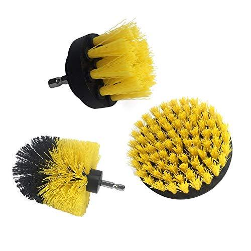 Remote.S Set met reinigingsborstels voor boren, nylon borstels, universele boorborstel voor het reinigen van badkuip, tegels, badkamer, tapijt
