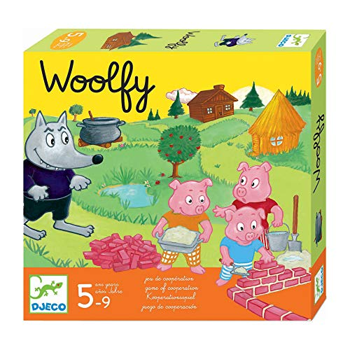 Djeco-DJ08427 Juegos Educativos Woolfy, Multicolor (DJ8427)