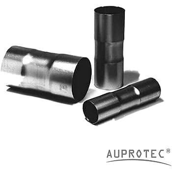 /Ø 45x500mm Doppelschelle Universal Reparaturrohr Rohr mit Aufweitung Auspuff Schelle Verbindungsst/ück Rohrverbinder Abgasanlage Klemmst/ück Rohrschelle