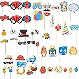 Unishop Accesorios Atrezzos Photocall Complementos para Foto Prop Photocall con Spider Man y Fútbol para Fiestas y Cumpleaños (Tema 1)