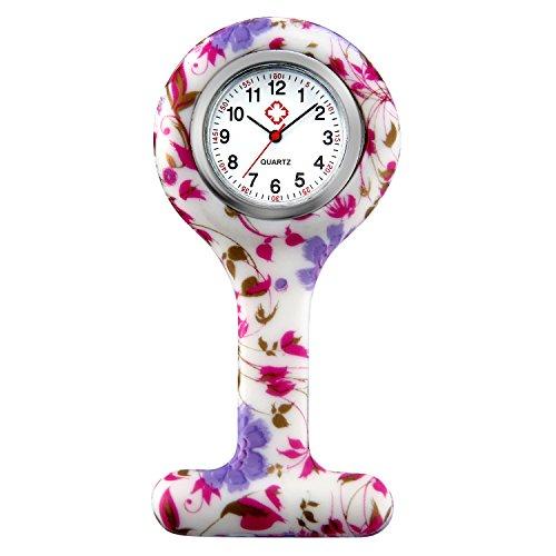 LANCARDO Uhren, Krankenschwester Armbanduhr FOB-Uhr Damen Taschenuhr Analog Quarzuhr aus Legierung