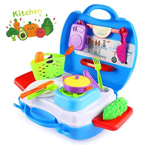 Vandora Play Set For Kids Kitchen Food Playset Toy Kitchen Set Toddler Pretend Play Kitchen Utensils For Kids Buy Online In China At Desertcart