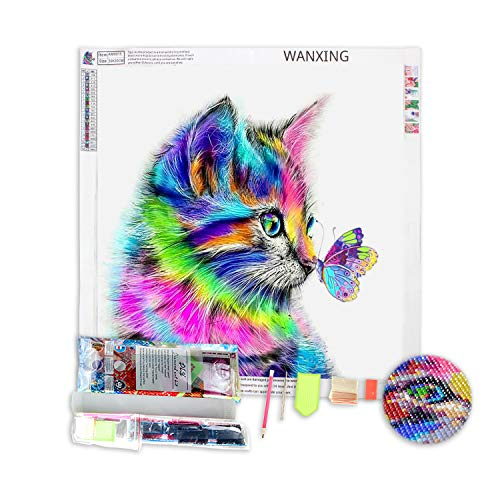 DIY Diamond Painting Set 5D Diamant Malerei Katze 30 x 30 cm