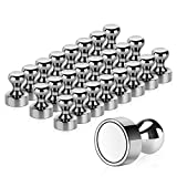 Temporaryt Aimant, 24PCS Magnet Métalliques AimantPuissant 12x16mm - Aimants en Acier Inoxydable Aimants Frigo pour Tableau D'affichage, Réfrigérateur etc. - avec Boîte de Rangement