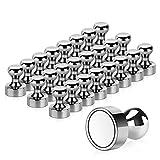 24 Stück Neodym Magnete, Temporaryt Extrem Stark Metall Magneten 12 x 16mm - Edelstahl Kegelmagnete...