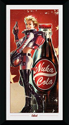 GB Eye Ltd Fallout, Nuka Cola Portrait Kunstdruck, gerahmt, 50x 100cm, Holz, verschiedene, 55x 105x 1,8cm