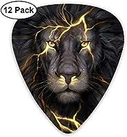 ライオンアート エレクトリックギターアコースティックギターマンドリンとベース用のクラシックギターピックセット(12パック) One Size