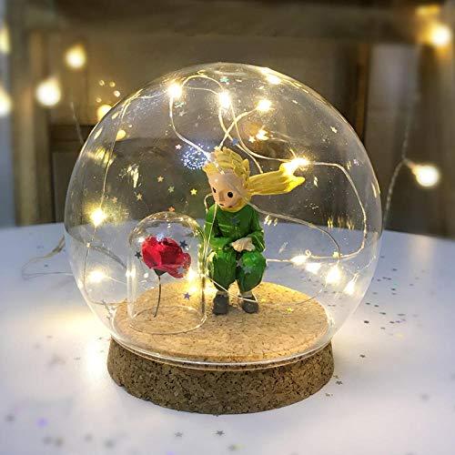 Batterie nachtlicht dekoration kristallkugel licht manuelle diy handgemachtes geschenk liebhaber geburtstagsgeschenk@Seine Majestät der kleine Prinz