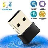 Clé WiFi 1200Mbps USB 3.0 WiFi Adaptateurs de réseau Longue Portée, Adaptateur...