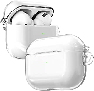 araree [NUKIN] Transparent Shockproof Hard Polycarbonate Case for Airpods Pro Without Any Adhesive Sticker - Clear