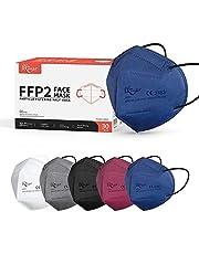 KKmier Mascarillas FFP2, Mascarilla FFP2 Homologada (30 Pack) eficiencia del filtro ≥95%, Máscaras con Certificado CE