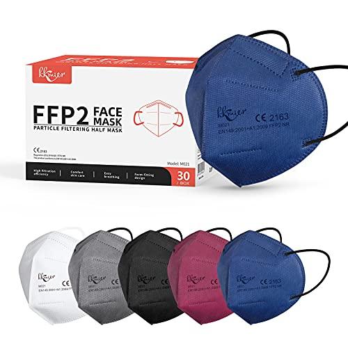KKmier Mascarillas FFP2 Homologadas (30 Pack), 5...
