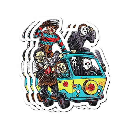 B. Strange Mall The Massacre Machine Horror Stickers (3 Pcs/Pack)