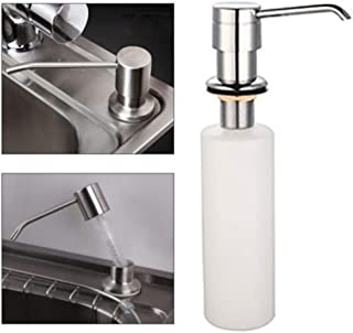 SAQIMA Soap Dispenser, White Liquid Soap Dispenser Lotion Pump Cover Built in Kitchen Sink Countertop