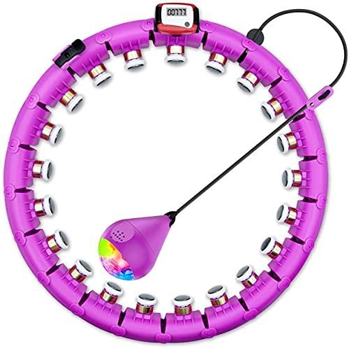 Hula Hoop con contatore, pneumatici Smart Fitness Non cade con nodi massaggianti e 24 parti mobili, Hoola Hoop per principianti, fitness e perdita di peso
