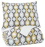 Signature Design by Ashley Mato Queen Comforter Set, Gray/Yellow/White