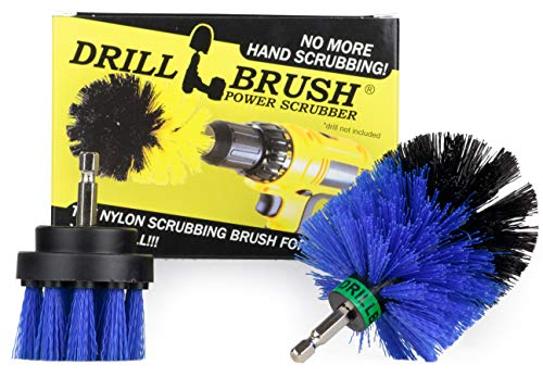 Pool Supplies - Drill Brush - Mini and 2-inch Spin Brush Maintenance Set - Pool Accessories - Pool Brush - Slide - Pond Liner - Hot Tub - Spa - Diving Board - Carpet Cleaner - Deck Brush